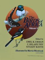 The Birds of Africa  Volume V PDF