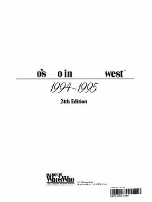 Who s Who in the Midwest  1994 1995