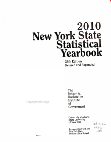 New York State Statistical Yearbook 2010 PDF