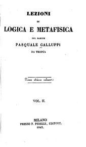 Lezioni di logica e metafisica: Volume 2