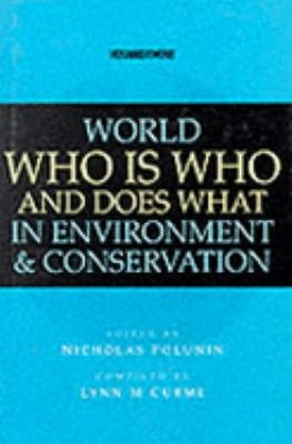 World who is who and Does what in Environment & Conservation