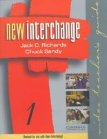 New Interchange Video Teacher s Guide 1 PDF