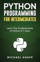 Python Programming for Intermediates PDF