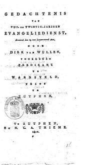 Gedachtenis van vijf-en-twintig-jarigen evangeliedienst, gevierd den 14 van louwmaand 1810