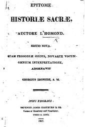 Sacræ historiæ epitome, in usum scholarum. Editio secunda