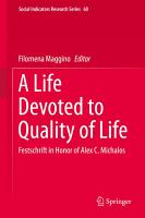 A Life Devoted to Quality of Life PDF