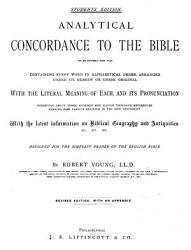 Analytical Concordance to the Bible on an Entirely New Plan PDF