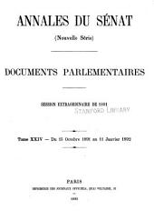 Annales du Sénat: Documents parlementaires. (Nouv. sér.), Volume 24