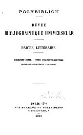 Polybiblion: revue bibliographique universelle, Volumes97à98