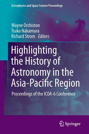 Highlighting the History of Astronomy in the Asia Pacific Region PDF