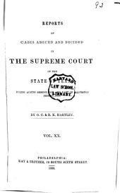 Reports of Cases Argued and Decided in the Supreme Court of the State of Texas: Volume 20