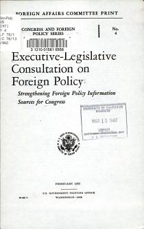Executive legislative Consultation on Foreign Policy PDF