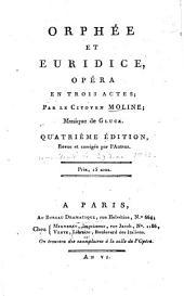 Orphée Et Euridice: Opéra En Trois Actes