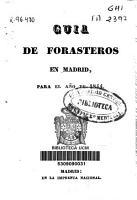 Gu  a de forasteros en Madrid para el a  o de 1844 PDF