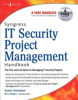 Syngress IT Security Project Management Handbook PDF