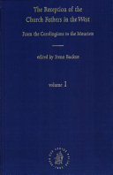 The Reception of the Church Fathers in the West PDF