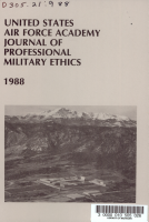 United States Air Force Academy Journal of Professional Military Ethics PDF