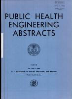 Public Health Engineering Abstracts PDF