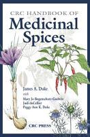 CRC Handbook of Medicinal Spices PDF