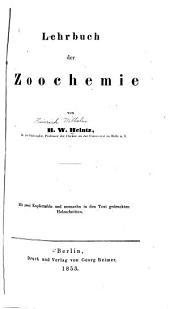 Lehrbuch der Zoochemie