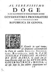 Storia dell'apparizione e de' miracoli di nostra Signora di misercordia di Savona [by G. Picconi].