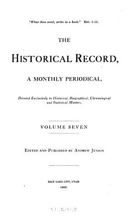 The Historical Record PDF