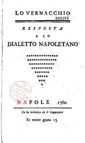 Lo vernacchio. Risposta al Dialetto napoletano (dell'abate Galiani)