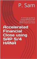 Accelerated Financial Close using SAP S 4 HANA PDF