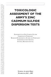 Toxicologic Assessment of the Army's Zinc Cadmium Sulfide Dispersion Tests