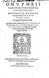 Reipublicae Romanae Commentariorum Libri tres: Volume 1