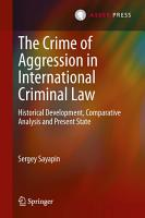 The Crime of Aggression in International Criminal Law PDF