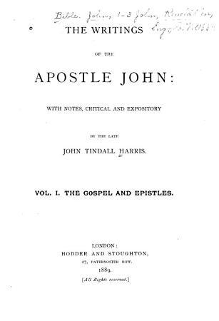 The Writings of the Apostle John PDF