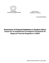 Report of the Ad Hoc Experts Group Meeting on Governance of Financial Institutions in Southern Africa PDF