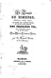 El Templo de Himeneo: Melodrama mitológico ...