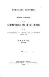 Colorado Reports: Volume 17
