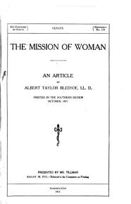 The Mission of Woman PDF