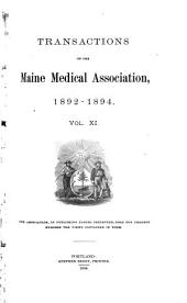 Transactions of the Maine Medical Association: Volume 11