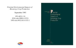 Potential environmental impacts of bioenergy crop production  PDF