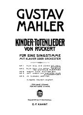 Kinder-Totenlieder Von Rückert: Für Eine Singstimme Mit Klavier Oder Orchester