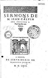 Sermons sur l'Epistre de S. Paul aux galates