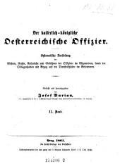 Der Kaiserlich-Konigliche Oesterreichische Offiizier