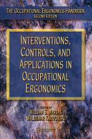 Interventions  Controls  and Applications in Occupational Ergonomics PDF