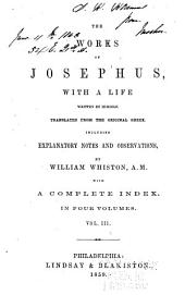 The Works of Josephus: With a Life Written by Himself, Volume 3
