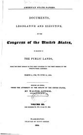 American State Papers: Documents, Legislative and Executive, of the Congress of the United States, Volume 8; Volume 30