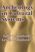 Archeology in Cultural Systems PDF