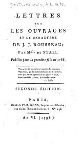 Lettres sur les ouvrages et le caractère de J.J. Rousseau