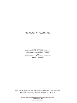 The Wolves of Yellowstone PDF