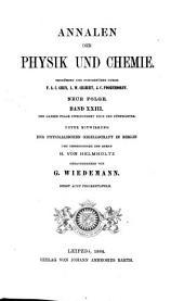 Annalen der Physik und Chemie: Band 23