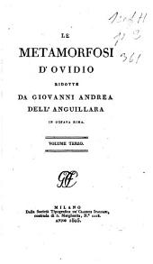 Le Metamorfosi d'Ovidio: Volume 3