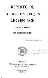 Repertoire des sources historiques du moyen-age: bio-bibliographie. Complement-supplement